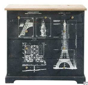 Tour Eiffel Maisons Du Monde Commode Noire Mobilier De Salon Maison Du Monde