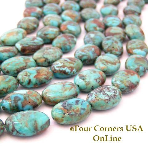 strands kingman usa tq online corners four pin round turquoise blue inch beads