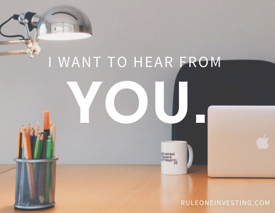 To start off this month, I want to hear from YOU What is your - define business investment