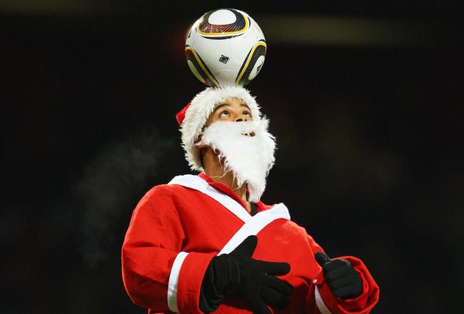 Christmas santa claus series football products soccer