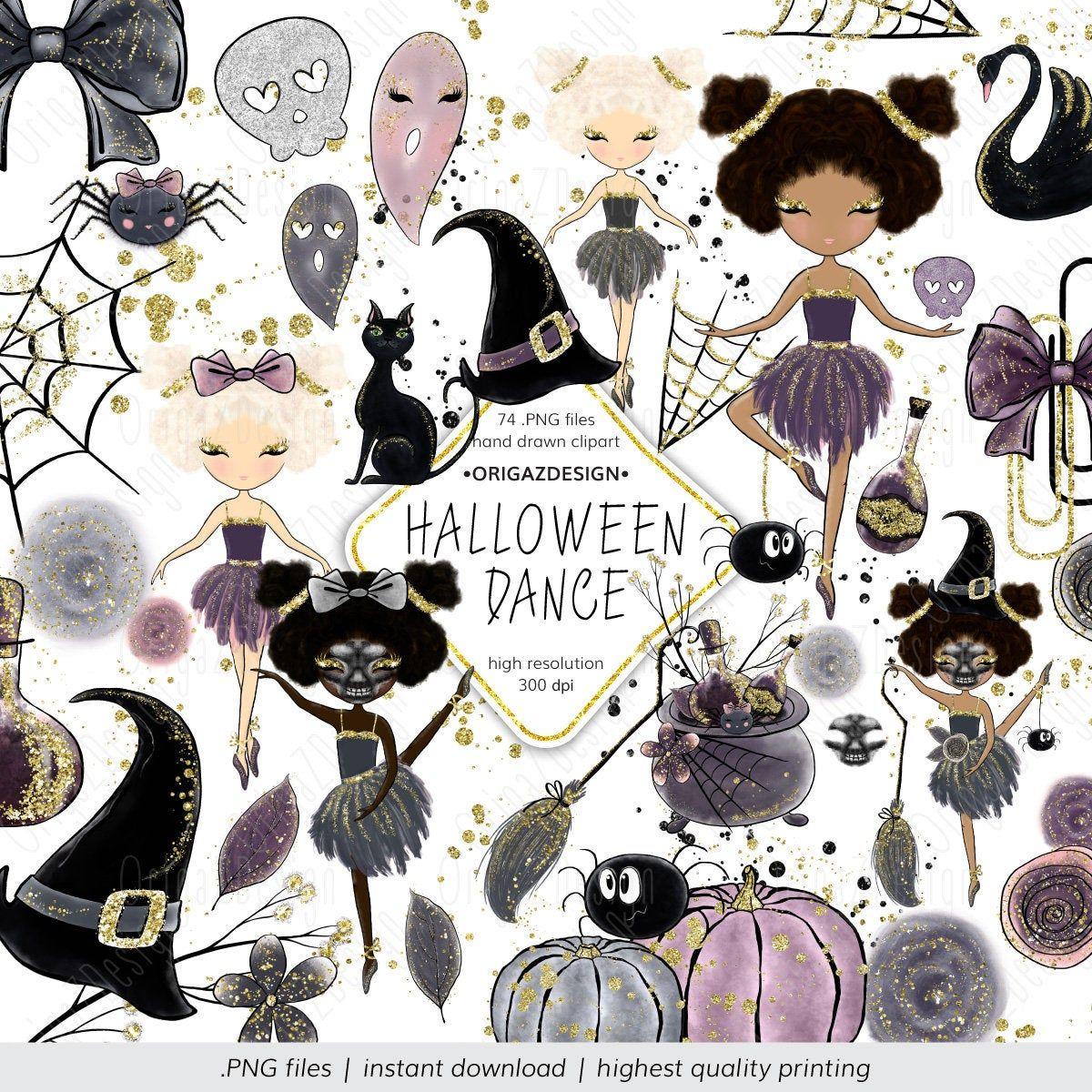 Halloween Clipart, Halloween Dance Clipart Ballerina Witch ...