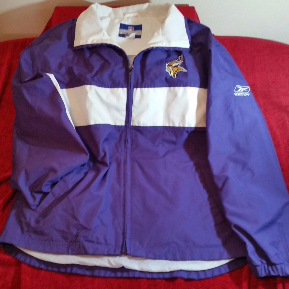 the best attitude 1a59f d00d7 Reebok NFL Team Apparel Minnesota Vikings Jacket M Medium ...