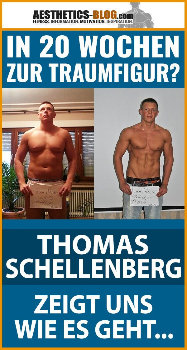 In 20 Wochen zur Traumfigur? Thomas Schellenberg zeigt wie es geht  - Trendy Fitness Motivation - #C...