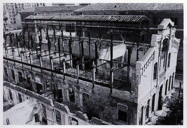 Via Daverio, Teatro del Popolo all'Umanitaria dopo il bombardamento del 1943 | da Milàn l'era inscì