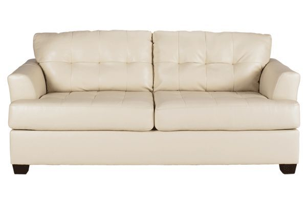 Durablend Leather Type Ivory Loveseat