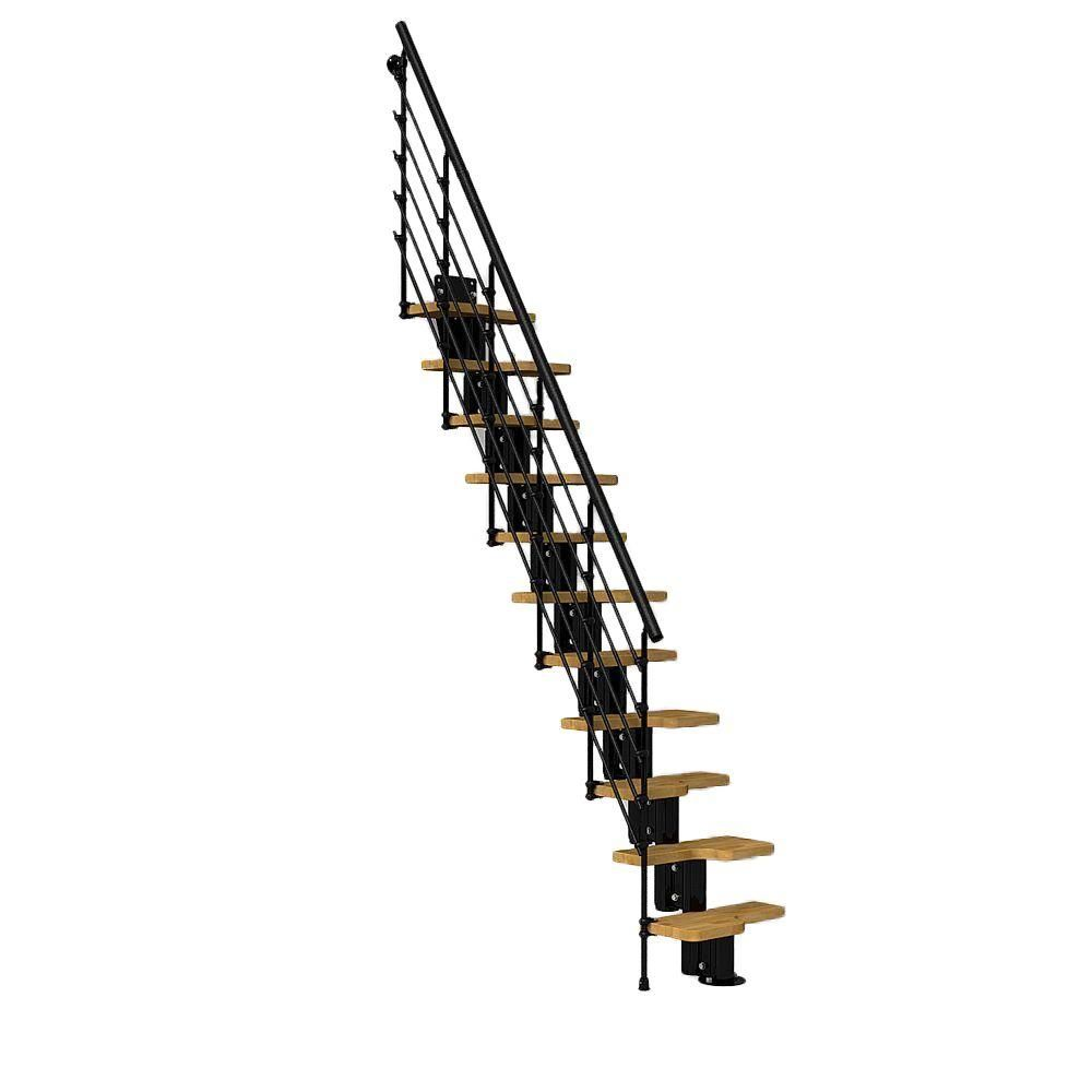 Best Arke Oak30 Xtra 22 In Black Modular Staircase Kit K22051 400 x 300