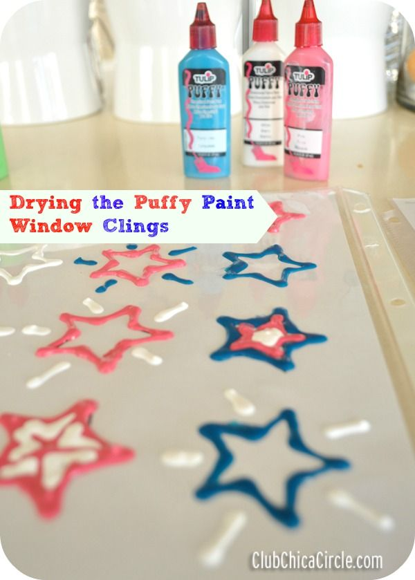 puffy paint craft ideas tulip paint window clings craft tween craft ideas 5297