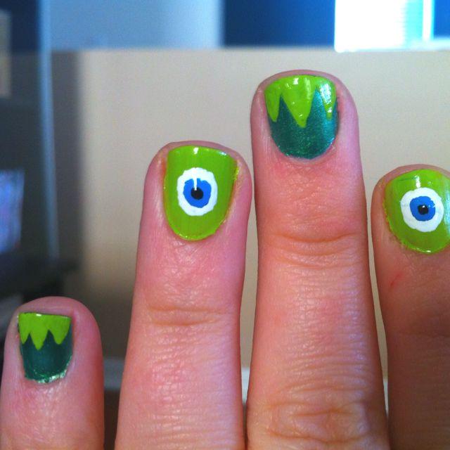 Kermit and Mike Wazowski nails...AWESOME!!! (no link!)\