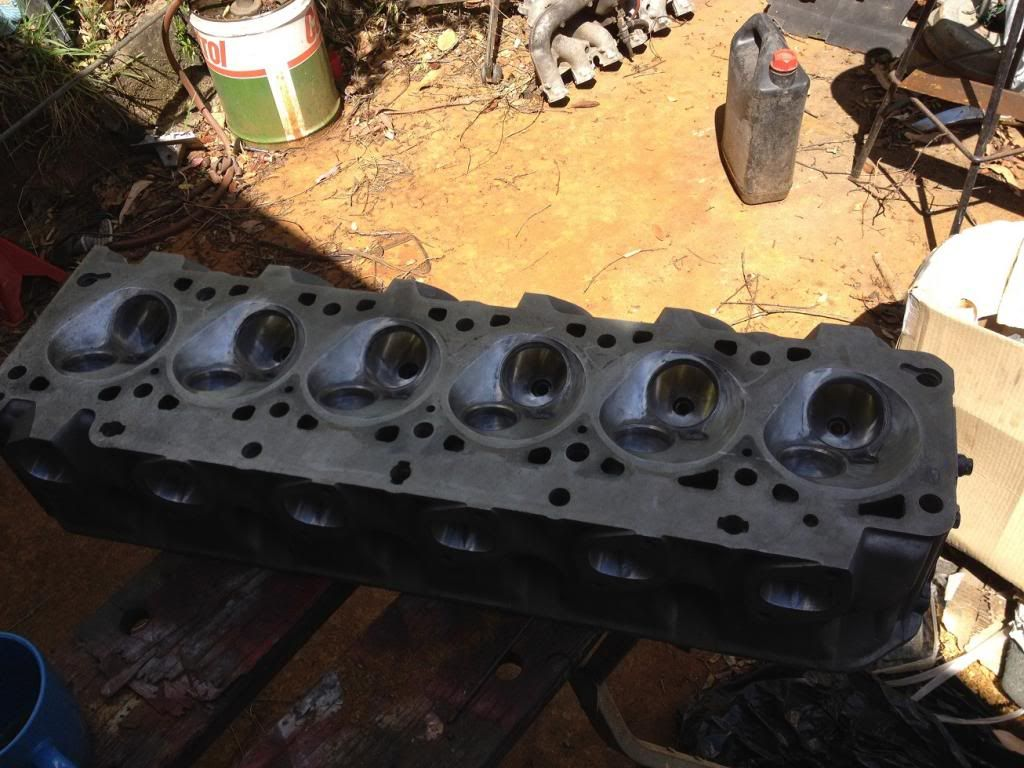 BMW cylinder head from an M30 engine (3 5 litre six) that a mate is