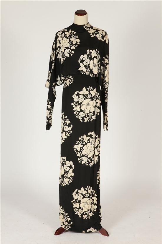 Lot 1060 Cher\'s black and white high-neck gown designed by Bob ...