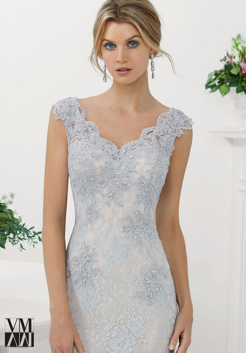 Mori Lee VM 71116 Cap Sleeves Bead Accents Button Closure - Fit and ...