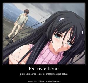 Frase Es Triste Llorar Anime Yo Nose Vivi Love Love Quotes Y