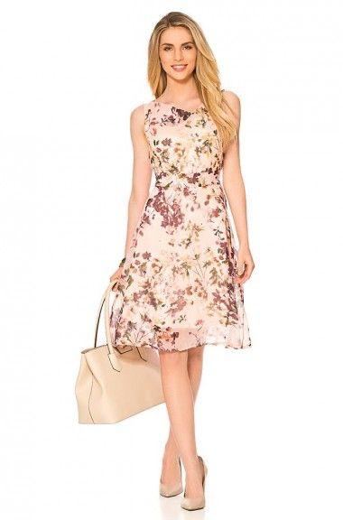 Kleid Mit Blumen Print Kleider Bekleidung Orsay Kleider Schone Kleider Kleider Damen