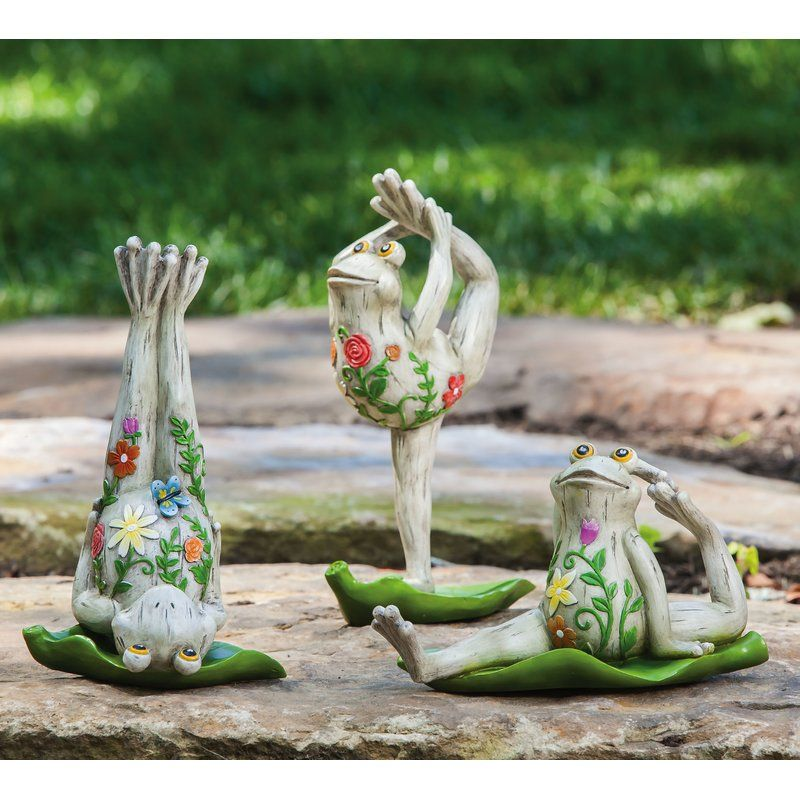 New Creative Yoga Frog Statue Wayfair Frog Statues Outdoor Statues Frog Decor