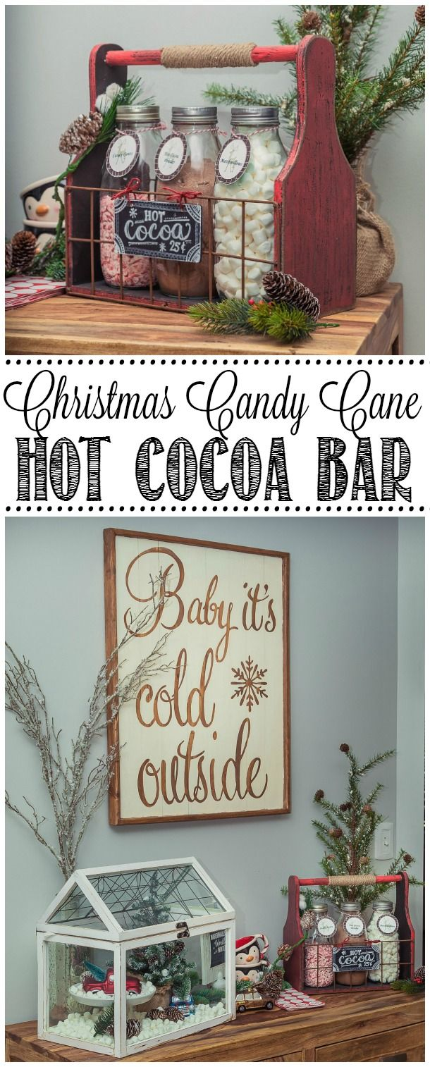candy cane hot chocolate bar weihnachten pinterest hei e schokolade geschenke und weihnachten. Black Bedroom Furniture Sets. Home Design Ideas