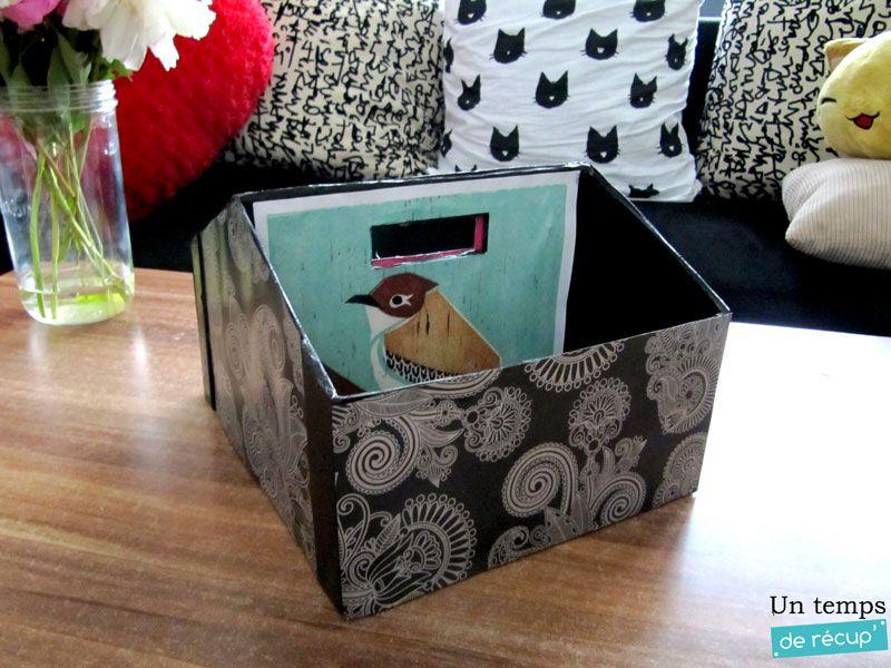 DIY Créer une boite à rangement sympa avec une boite à chaussure
