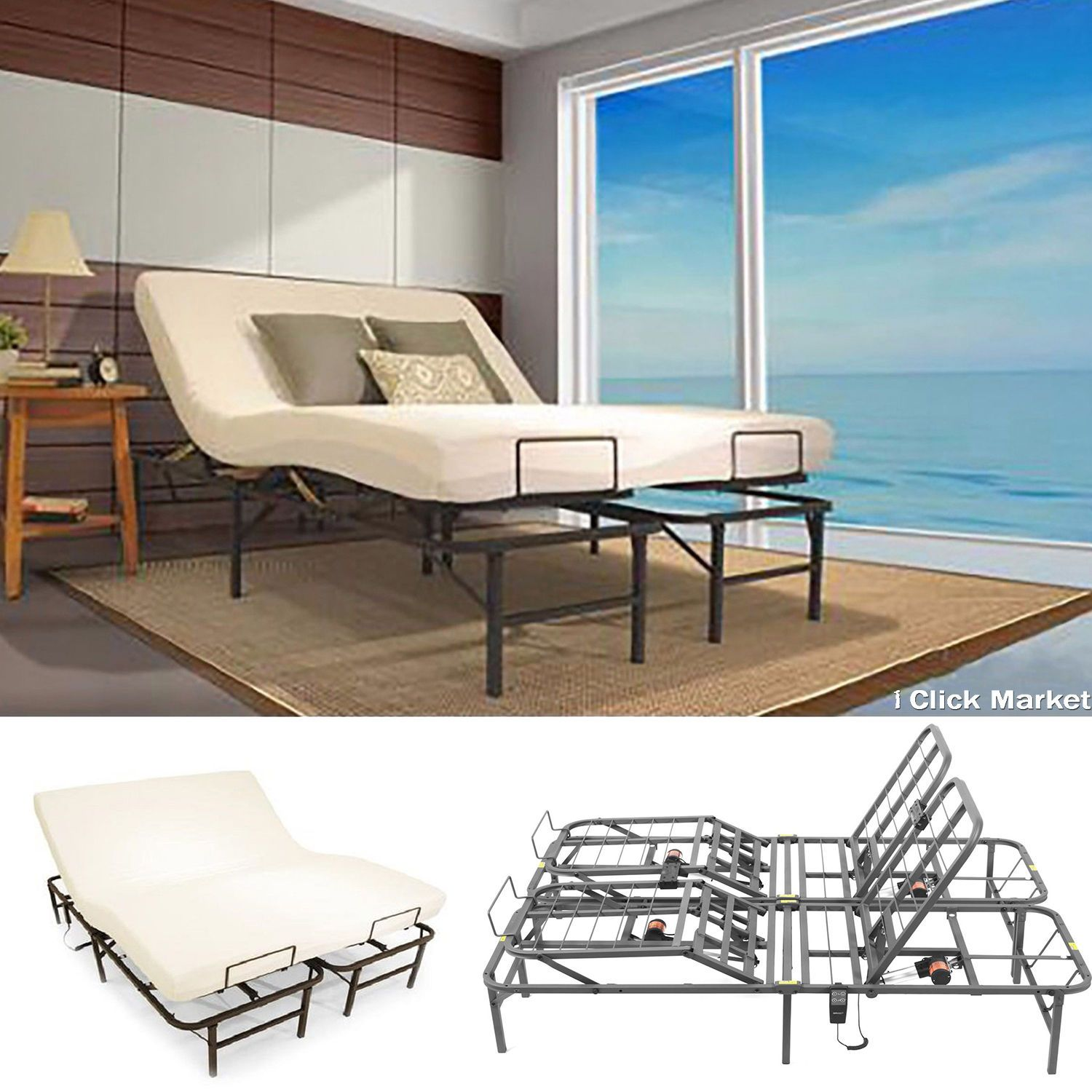 electric adjustable bed frame adjustable beds pinterest