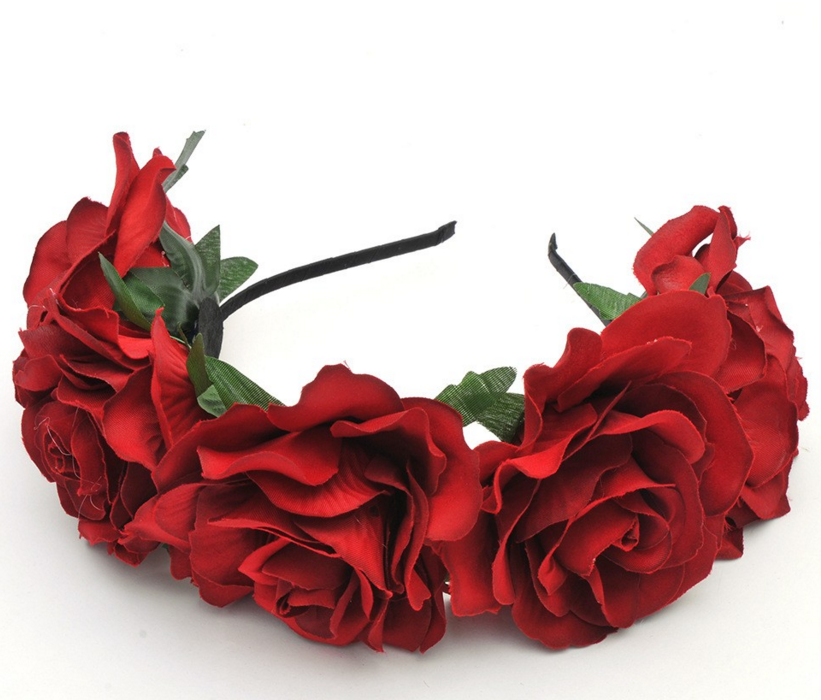 Forever Free Flower Crown Rose Flower Headband Flower Headband Wedding Flower Girl Head Wreath
