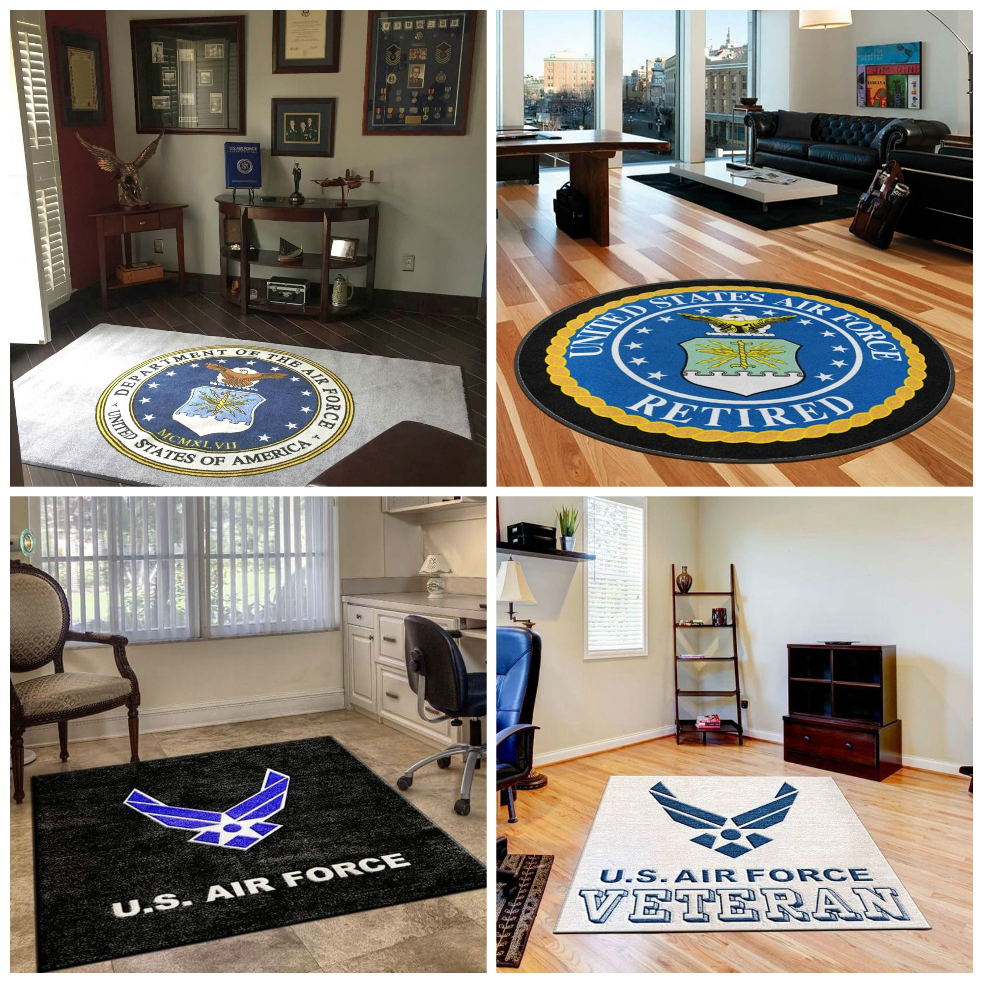 United States Army First Cavalry Military Indoor Door Mat Rug TWO RUGS