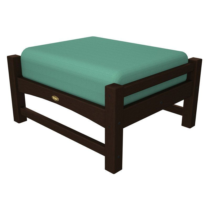 trex outdoor furniture recycled plastic rockport club ottoman with