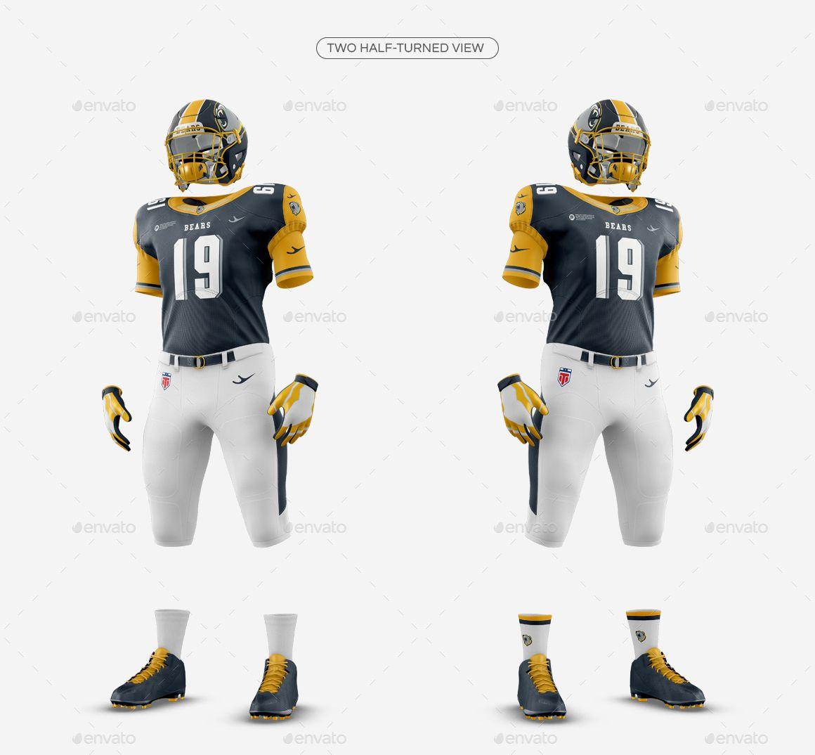 Download American Football Kit Mockup V1 American Football Football Kits Football