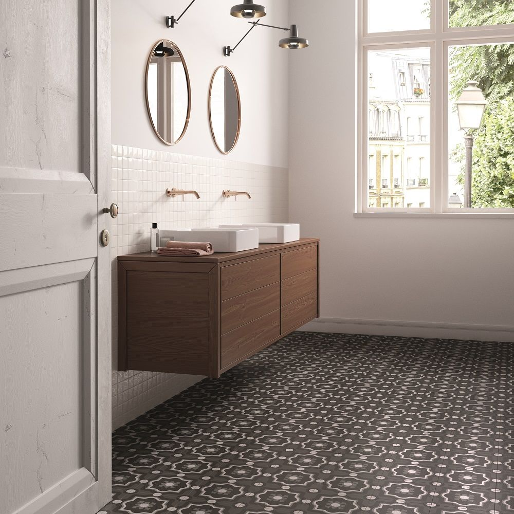 These Stunning Contemporary Geometric Pattern Tiles Are From The New Patchwork Black White Colle Bathroom Design Wall And Floor Tiles Modern Bathroom Design