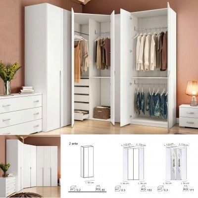 1000 in 2020 Bedroom closet design, Bedroom cupboard