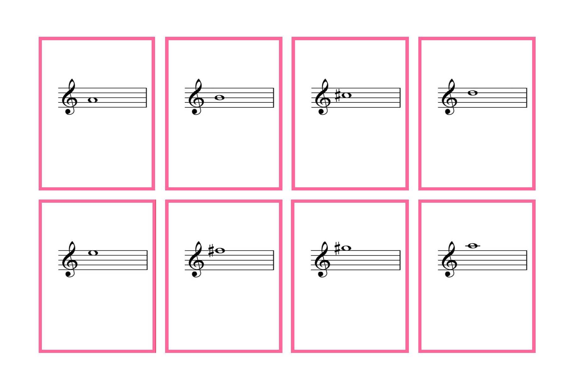 Journal Cards  Complete Set Violin Flash Cards  Printable