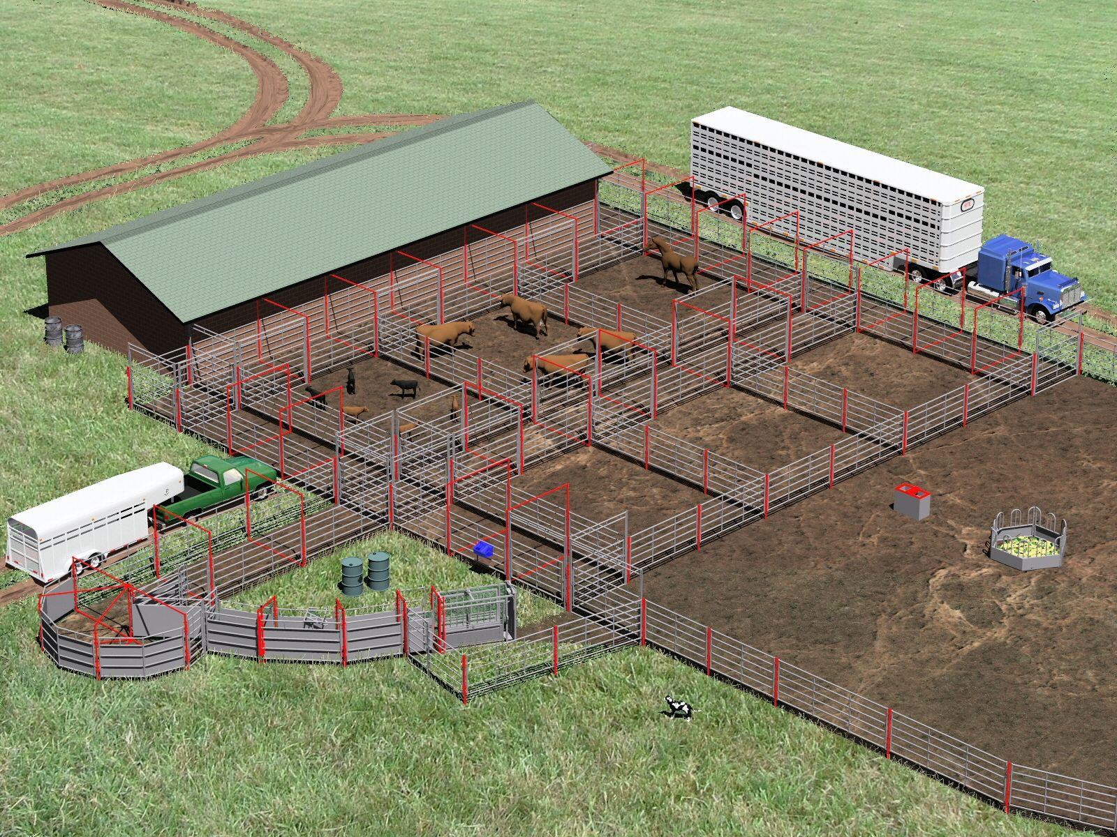 Corral system 7497 cattle farming goat farming livestock ranch farm ranch life