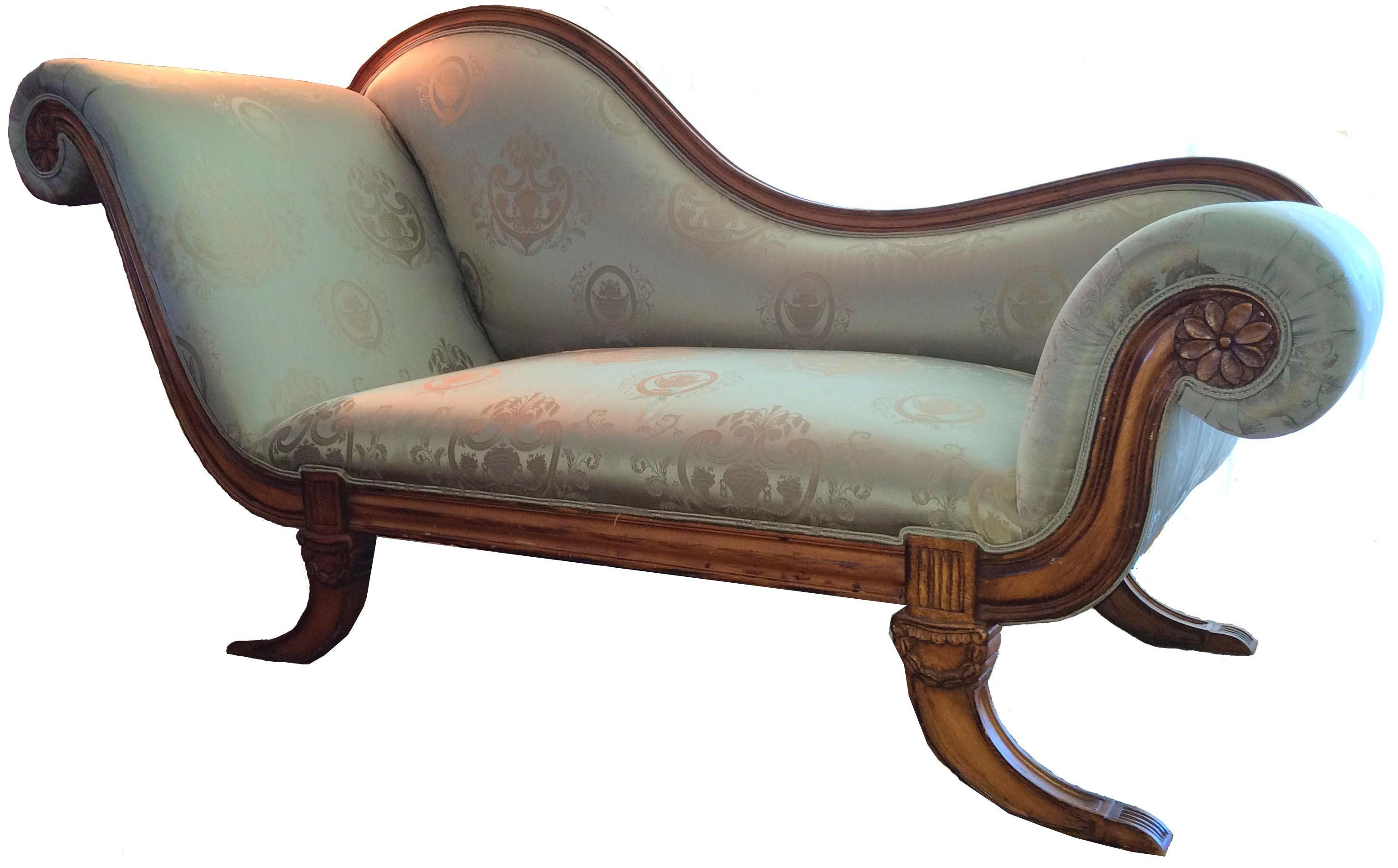 Directoire Chaise Lounge Fainting Couches