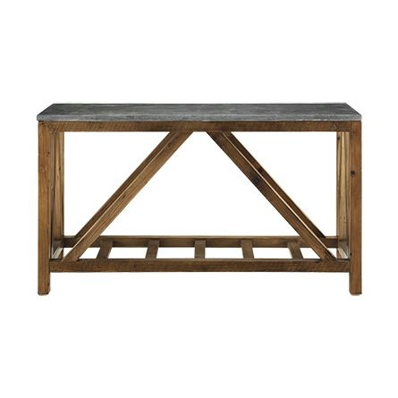 Holden Console Table From Arhaus With A Distinctive Blue Stone Top And A 100 Recycled Pine Base Our Living Room Console Stone Table Top Wood Console Table