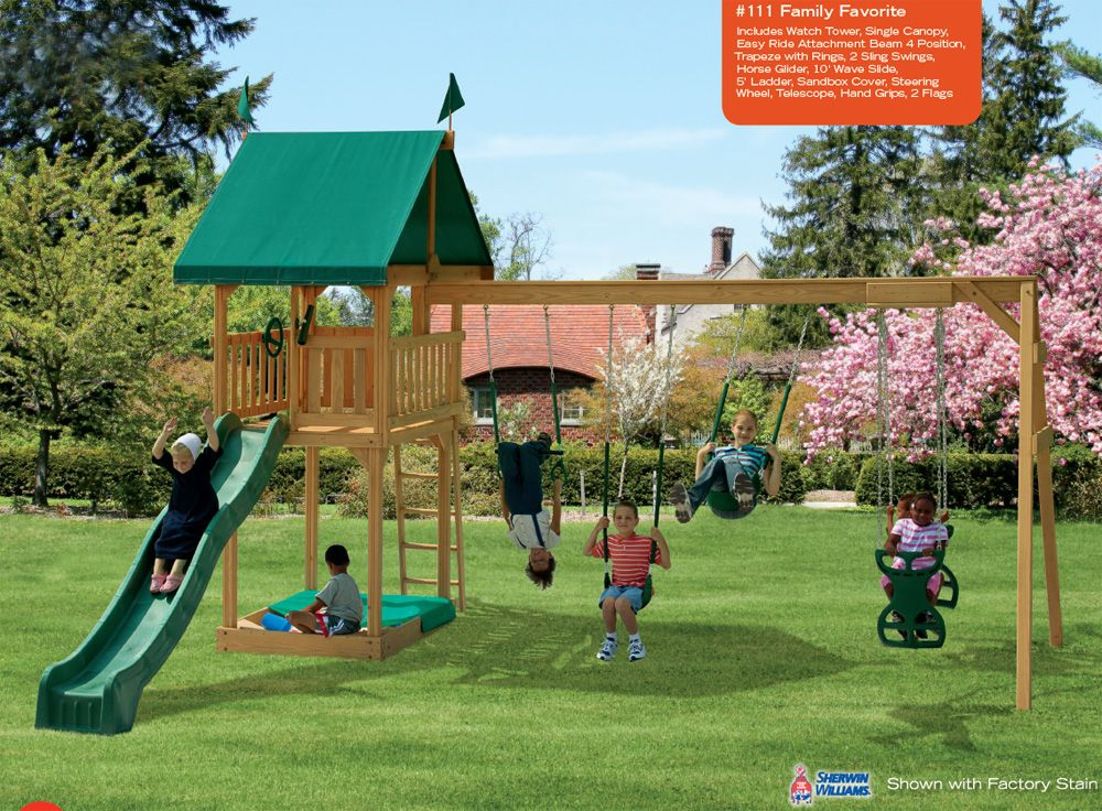 Wood Yard Kids Play Set | Watch Tower Playsets   Outdoor Wooden Watch Tower  Playsets