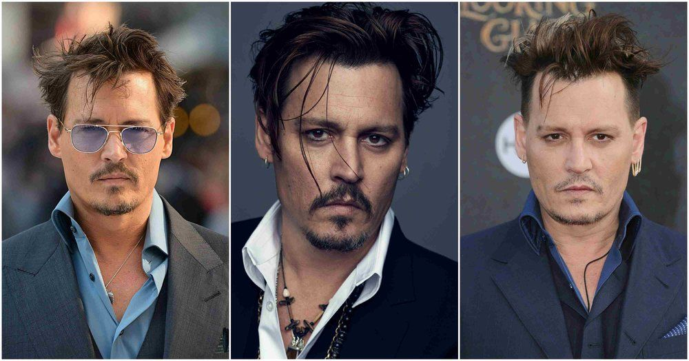 johnny depp mens undercut hairstyle 2013 2015 2016