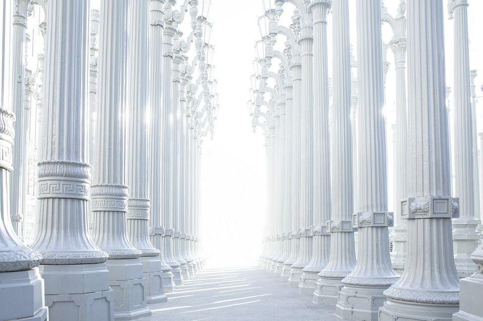 Columns, Hallway, Architecture, Greek, Ancient