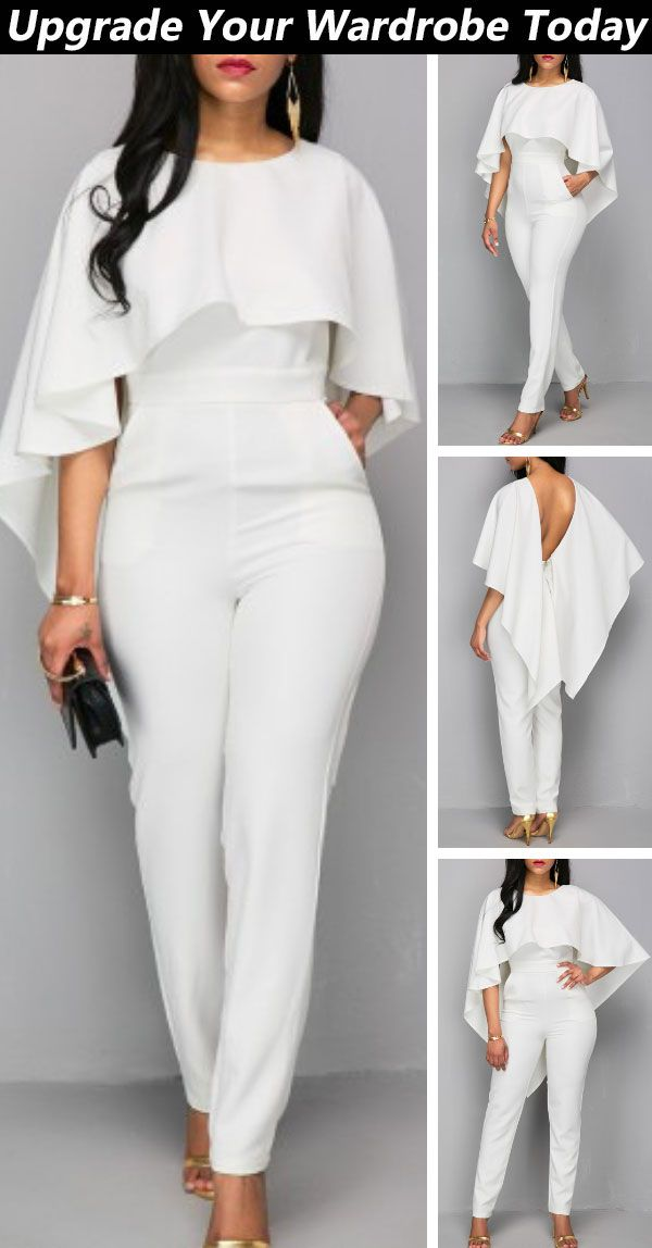 Photo of Shop today and get started. #rosewe#wedding#white#jumpsuit#chicoutfit#cuteoutfit…