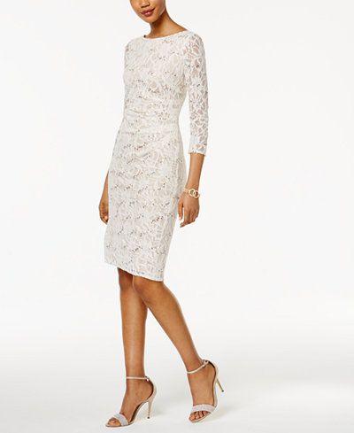Jessica Howard Sequined Lace Sheath Dress