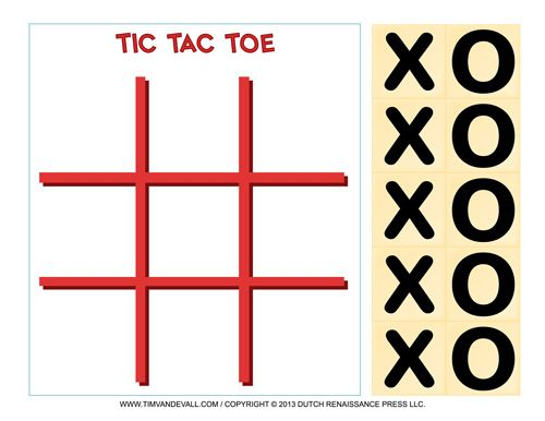 Printable Tic Tac Toe Game  Templates    Tic Tac Toe