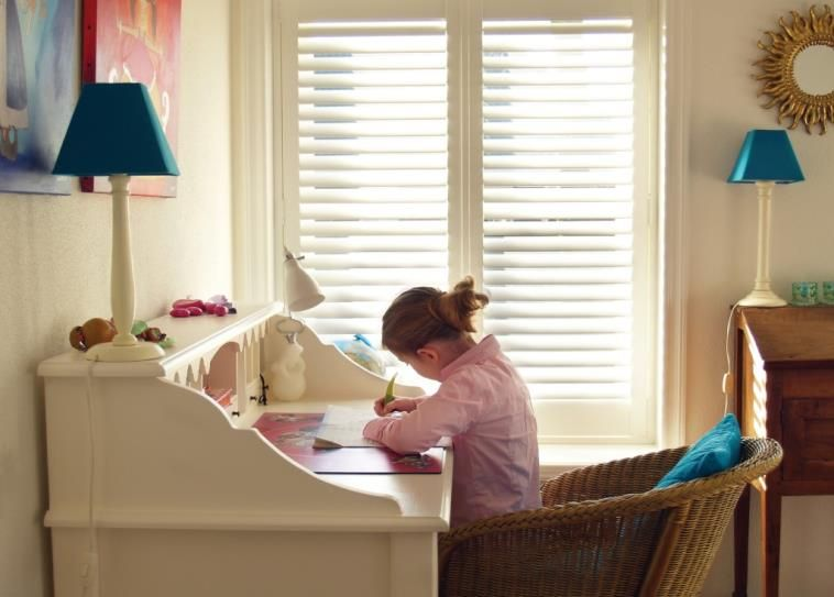 Composite Shutters Add Privacy & Soften Sunlight #BudgetBlinds #Chester #home #windows #shutters