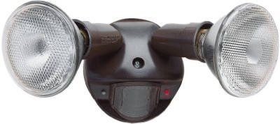 Cooper Lighting Ms600 180 Degree Bronze Motion Activated Regent Security Flood Light By