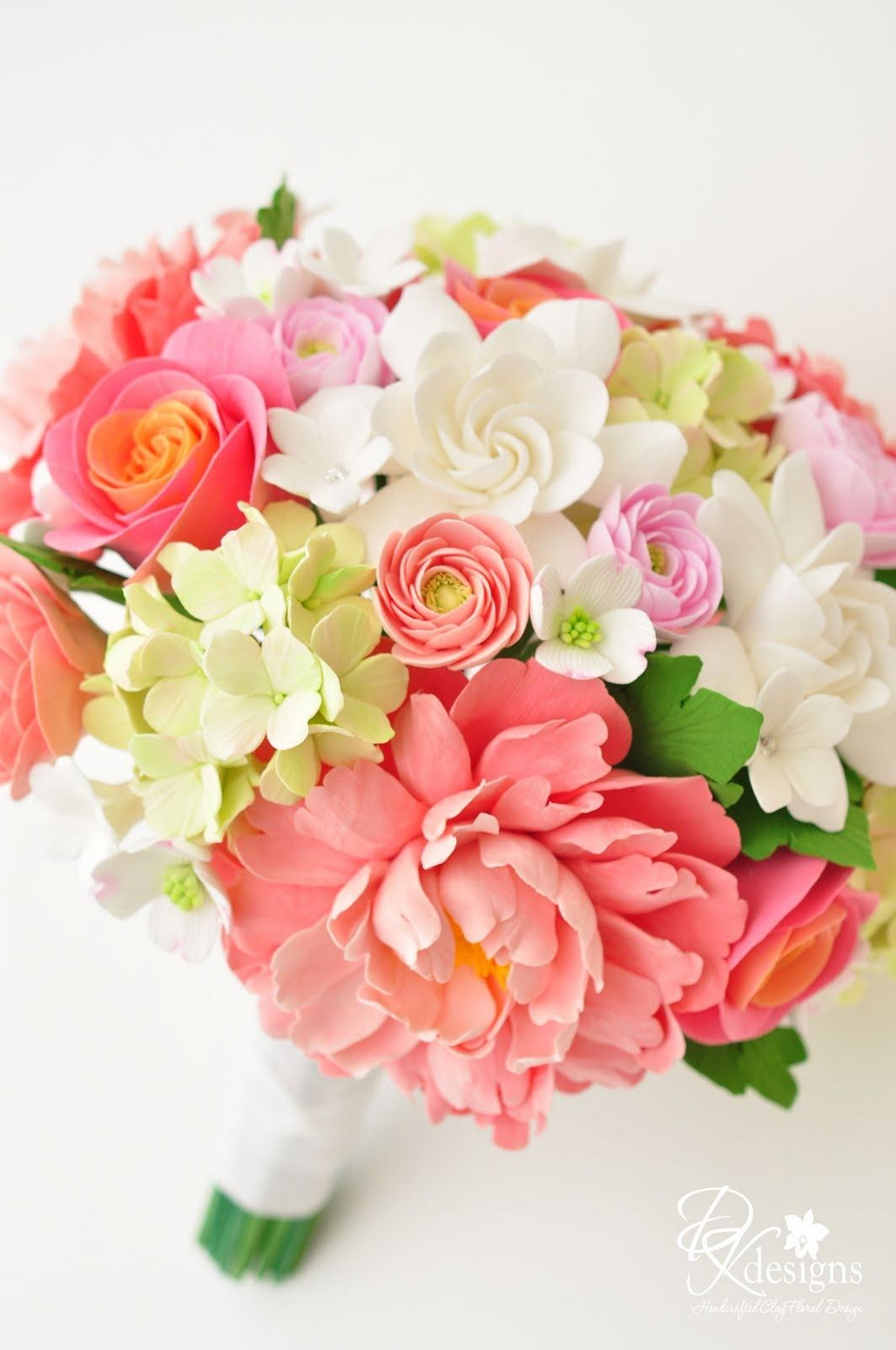 Teal And Coral Wedding Flowers Coral Pinks Greens And Whites