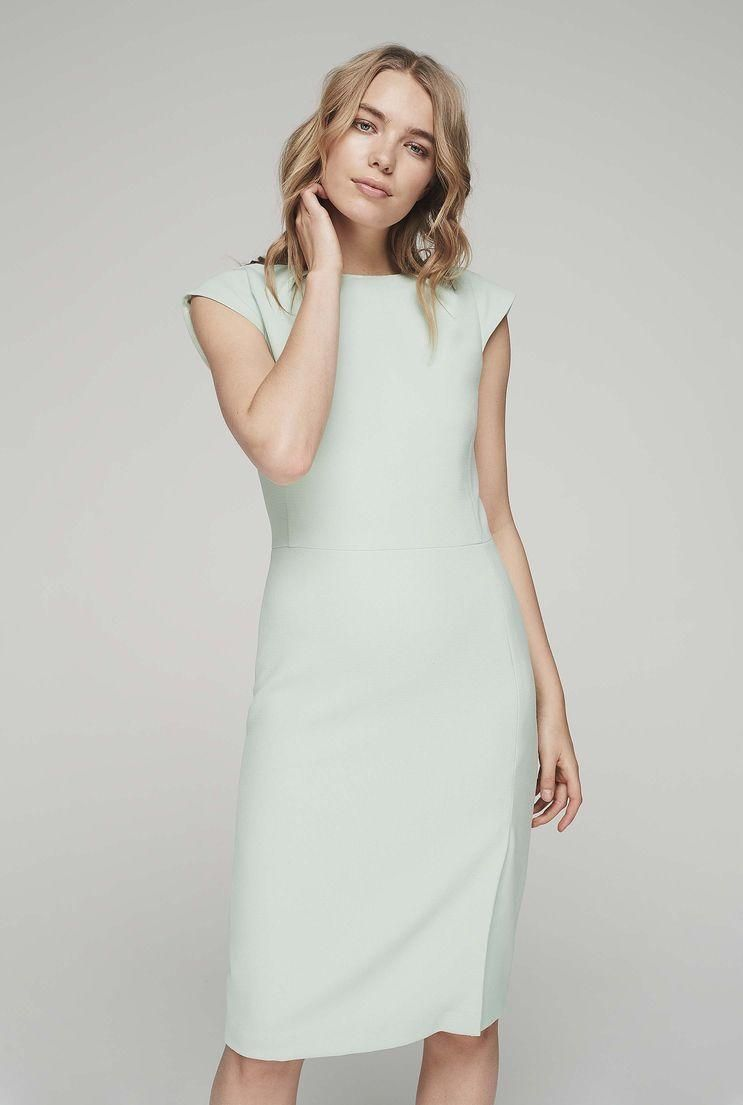 Tall womenus textured crepe suit dress in pale green size at