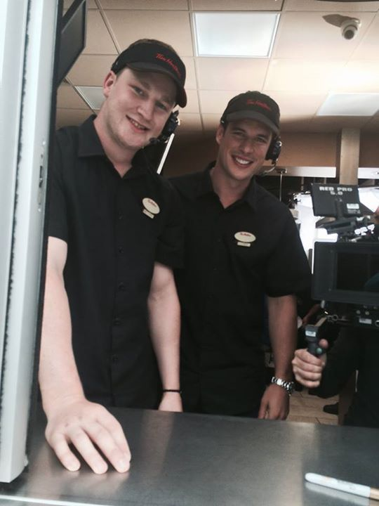 Sid and Nate working at Tim Hortons X - wearelookingathestars
