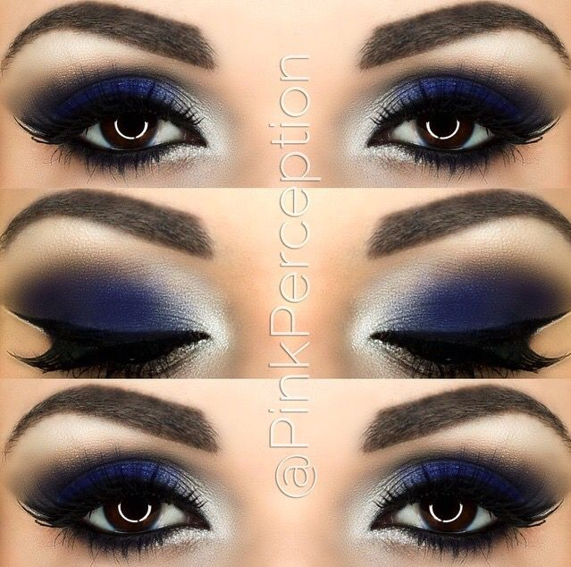 Pinkperception Blue Smokey Eye Makeup For Brown Eyes Navy Eyeshadow