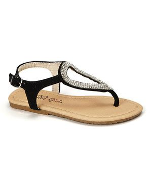 Love this QQ Girl Black Sophie Sandal by QQ Girl on #zulily! #zulilyfinds