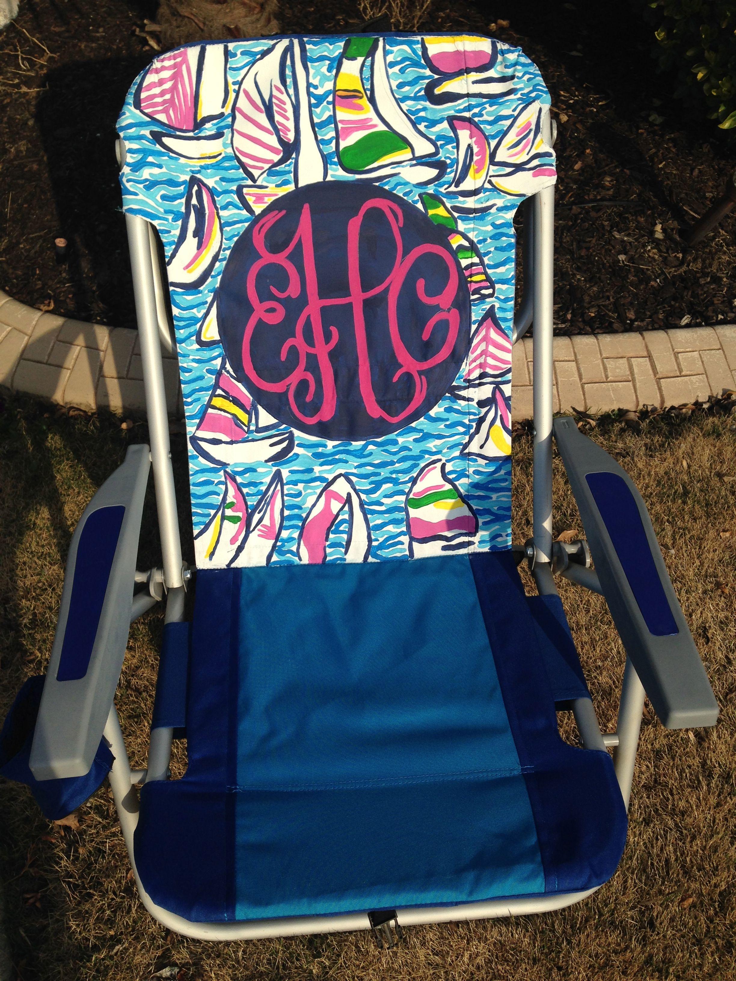 Lilly Pulitzer Inspired Monogram Beach Chair!