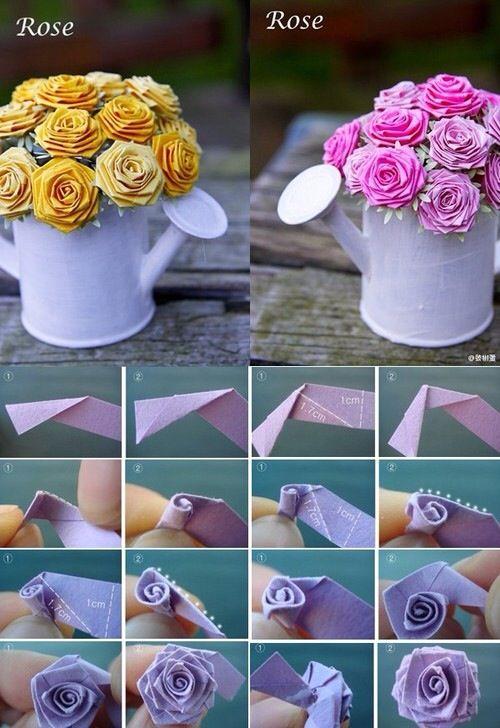 Photo of かなで ♥ ルフィ, rose origami.. | via Tumblr on We Heart It