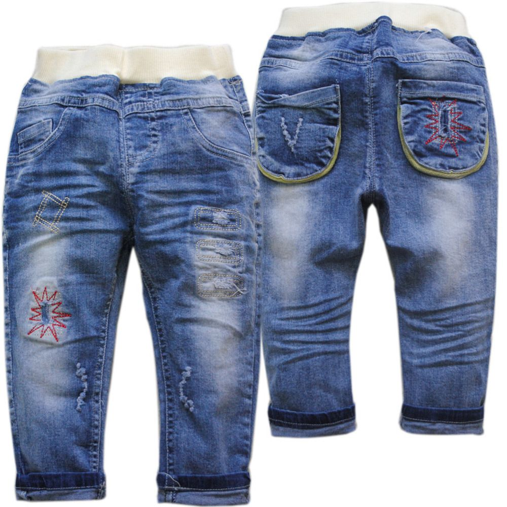 3df6f42cf 4007 soft Kids trousers pants baby boys jeans girl children spring ...