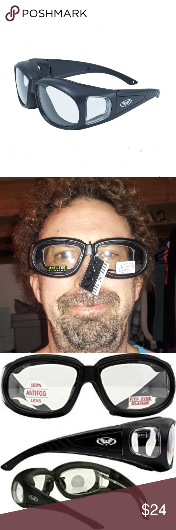 Z87 Fit Over Glasses Sunglasses Clear Lens Horse Boutique