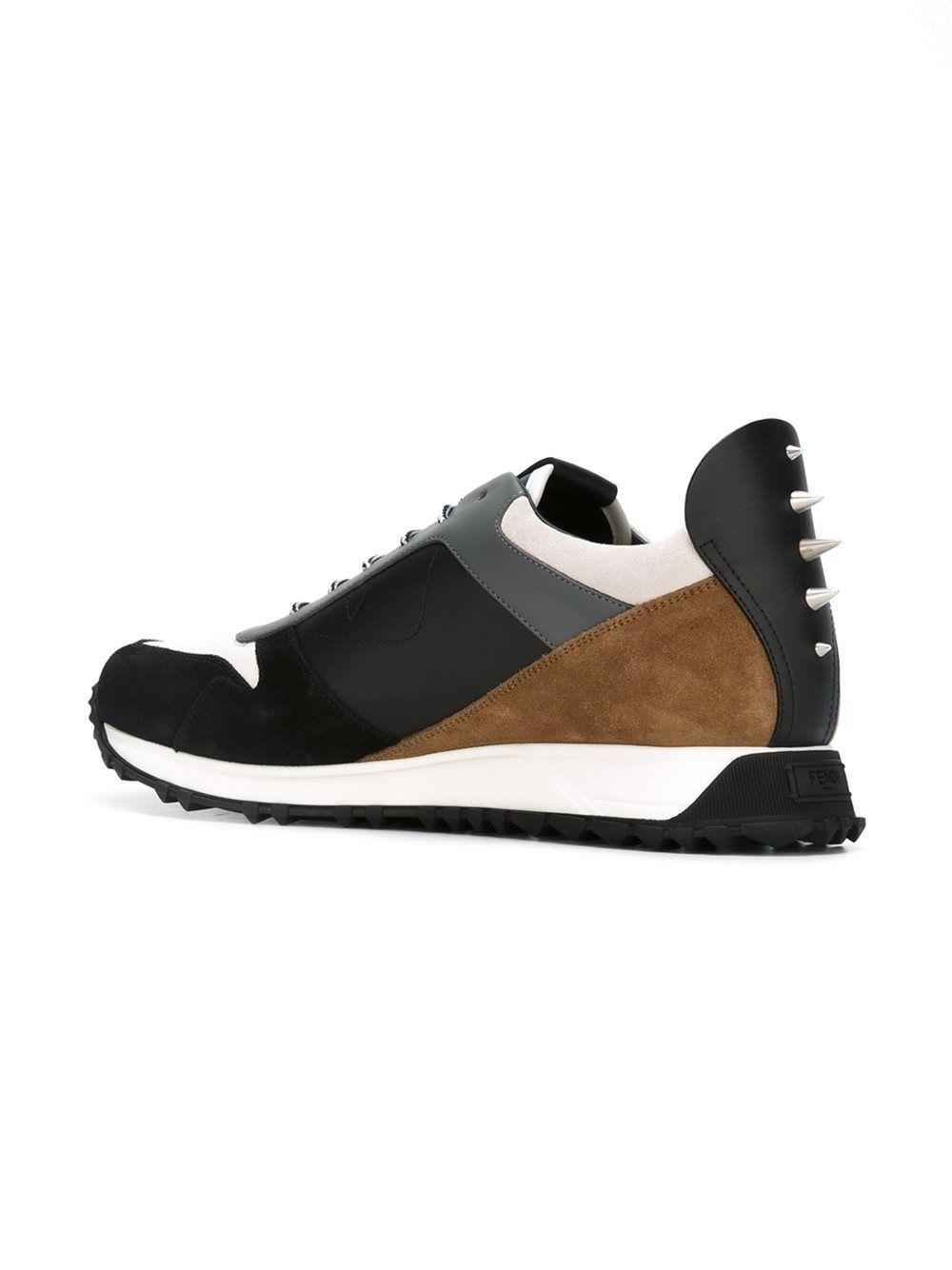 Bag Bugs contrast sneakers - Black Fendi IyHci7m