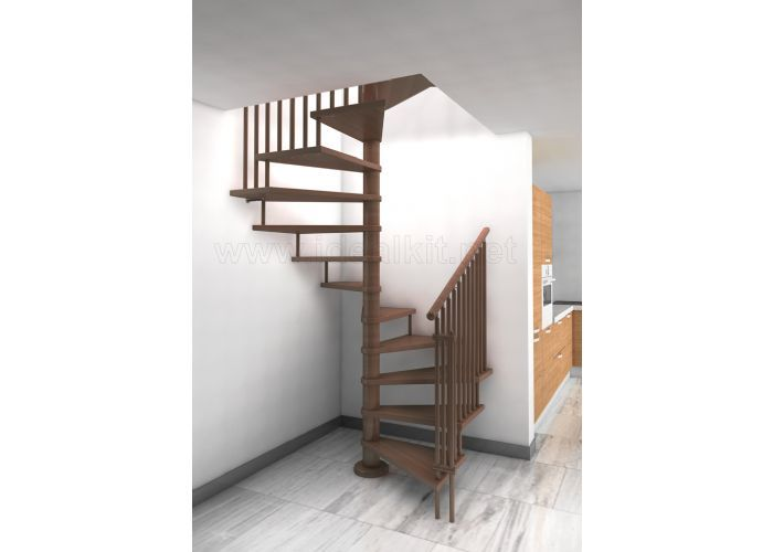 Escalera en planta cuadrada de madera proyectos que for Como hacer una escalera de caracol de madera